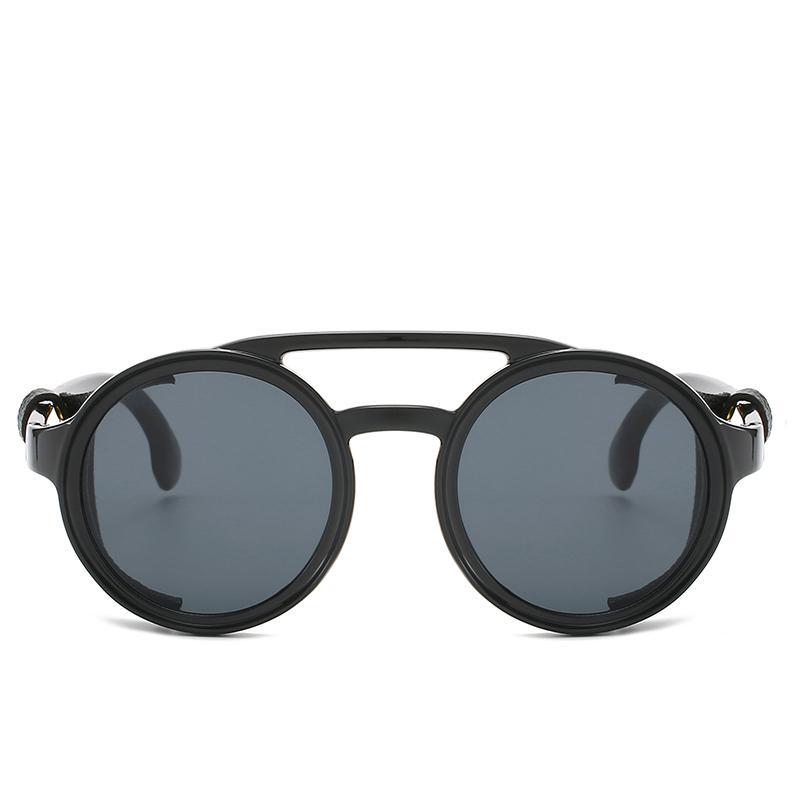 Новый бренд дизайн стимпанк солнцезащитные очки Мода женщины мужчины круглый панк солнцезащитные очки старинные UV400 солнцезащитные очки оттенки gafas de sol