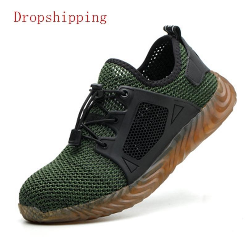 Dropshipping Indestructible Ryder Shoes homens e mulheres de aço Toe Sneakers Segurança Aérea de trabalho Botas Puncture à prova de sapatos respirável MX190819