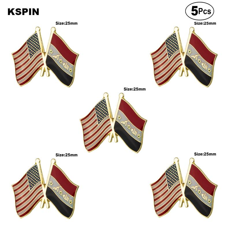 USA Irak Broş Yaka Pin Bayrak rozeti Broş iğneler Rozetler 5adet