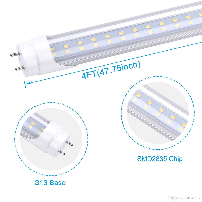4FT 22W LED أنابيب ضوء 18W T8 LED 4FT أنبوب أضواء SMD 2835 الأبيض البارد 6500K 28W T8 الرصاص مصباح أنبوب