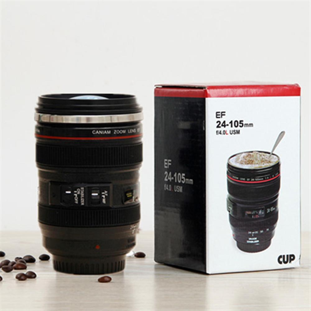 حار بيع الجدة هدايا عيد الميلاد كاميرا الحليب فنجان القهوة السفر القدح جديد القهوة عدسة الكاميرا مضاهاة أكواب البيرة أكواب 400