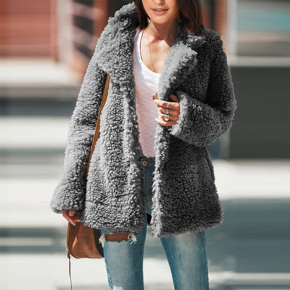 abrigo de piel de las mujeres ocasionales de la chaqueta del invierno del otoño cubre a la hembra de la moda chaqueta informal femenina mujer SY85304
