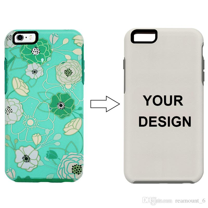 Your Logo Can be Customized on the Case No Logo Symmetry Case Defender Case 2 in 1 Shell for iPhone 7 8 XS