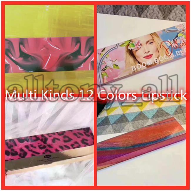 Drop Shipping Livraison Multi M Multi M Marque Lip Cosmétiques Lipstick 12pcs / Set The Bullet Matte Lipstick Boom Bloom avec une belle qualité Livraison gratuite