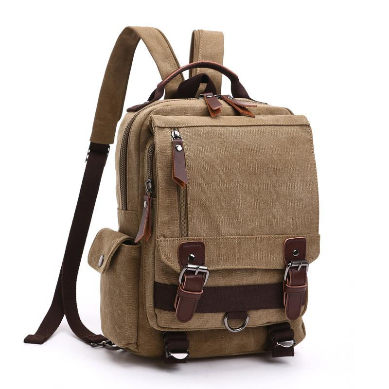 Brand Designer Style women Canvas Leisure Travel Bag Large Capacity Backpacks Male Laptop Vintage Backpack women's Shoulder Bags