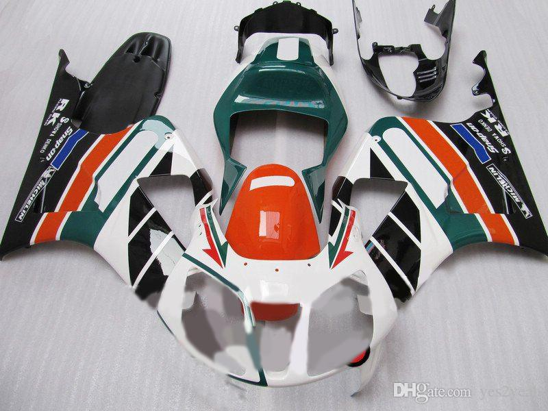 Kit de carenado de motocicleta para Honda VFR1000RR 00 01 04 06 VFR 1000 SP1 2000 2006 ABS Blanco verde negro Conjunto de carenados + Regalos HW26