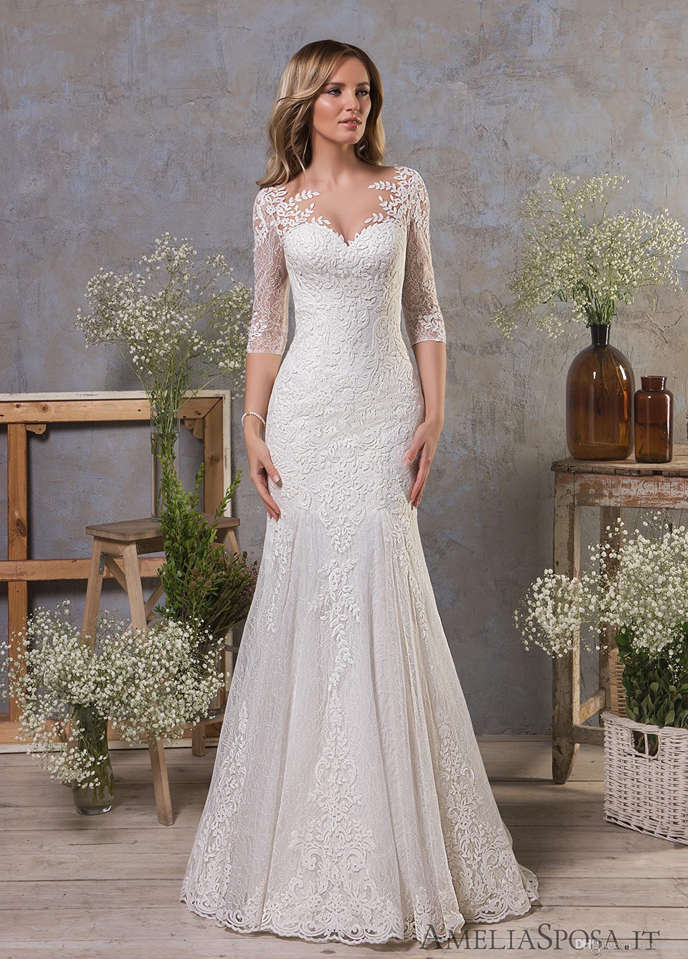 Abiti Da Sposa.Mermaid Lace Wedding Dresses Abiti Da Sposa Elegant Vestidos De