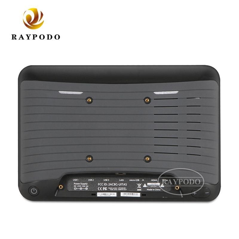 Raypodo 7 inch 8 inch Android 8.1 VESA wall mount capacitive POE RJ45 touch tablet with google play
