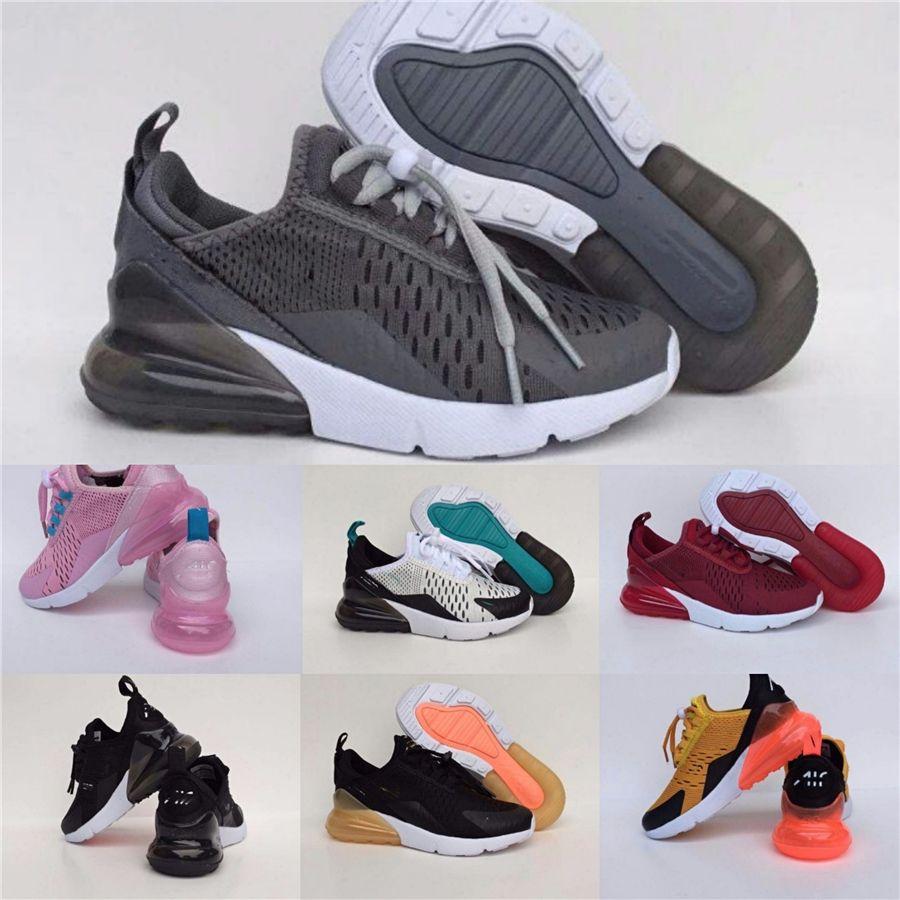 2020 Zapatos New Kids Sport Boys parte superior de malla transpirable zapatos corrientes de la moda niñas zapatilla de deporte blanca Negro Casual Calzado Size26-36 # 772
