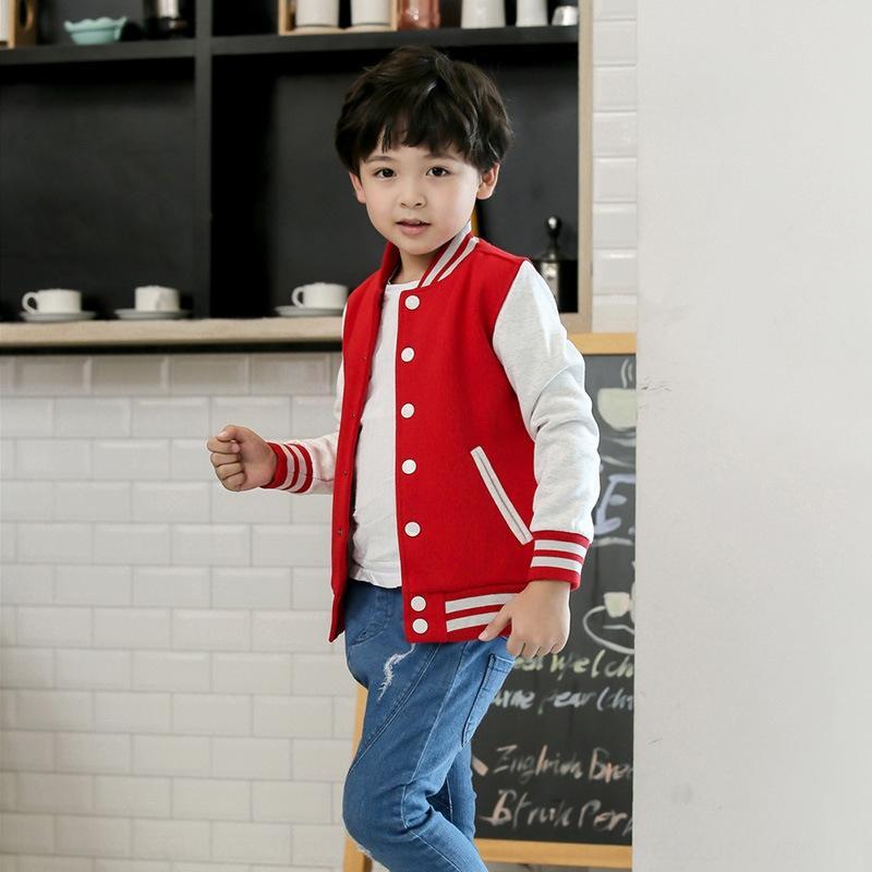base ball cappotto di baseball del manicotto coat scuola materna del vestito di attività genitore-bambino dei bambini del cotone