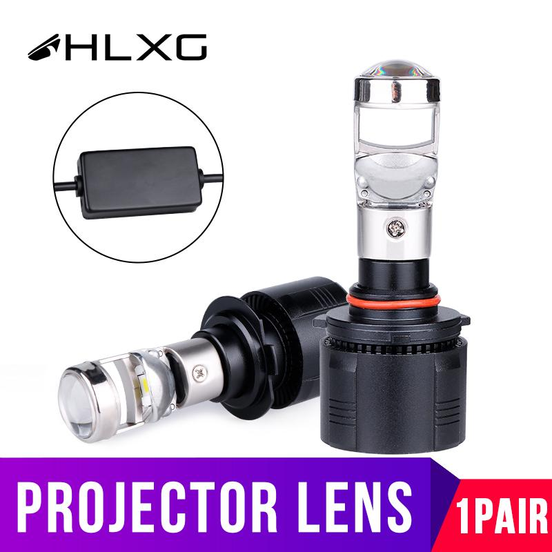 HLXG H7 H4 led Car Headlight Bulbs 9005 HB3 9006 HB4 H11 H9 H8 Mini Auto Fog lights diode lamps for cars Projector 12V 56W 6000K
