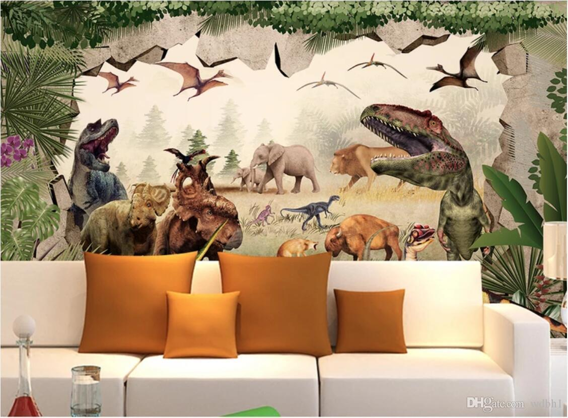 3d wallpaper custom photo mural Ancient Dinosaur Kingdom 3D Children's Room Background Wall Stereo Painting home decor wall art pictures