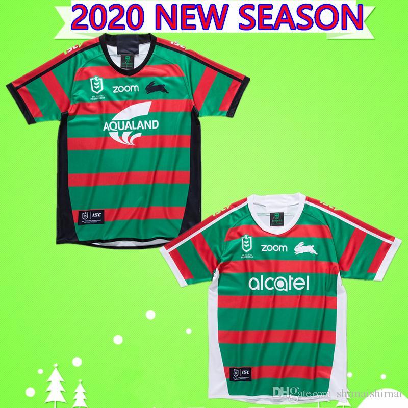 홈 S-5XL 2020 NRL 토끼 럭비 저지 고지 멀리 토끼 성인 남성 20/21 Rabbitohs 셔츠 최고 품질의 클럽 호주 뉴질랜드