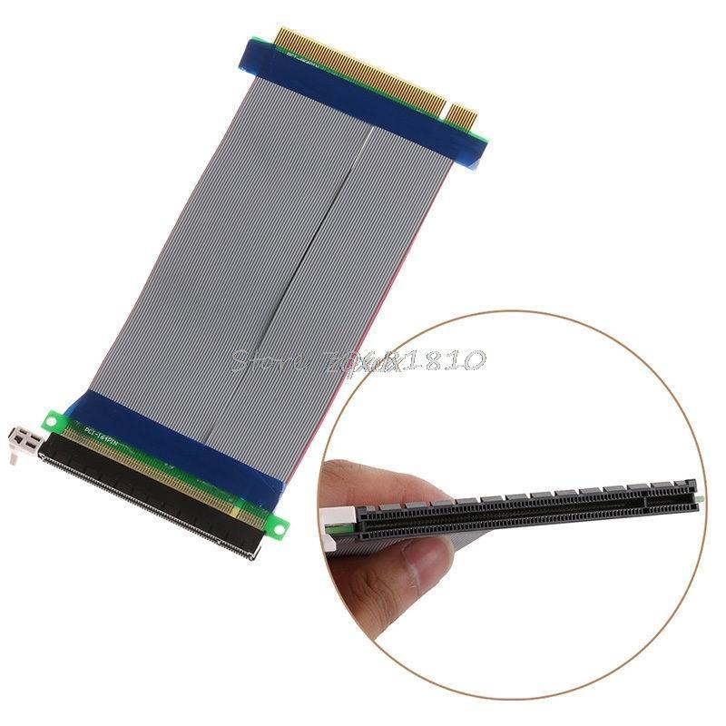 كمبيوتر مكتب PCI-E 16X 16 إلى الناهض بطاقة موسع محول بكيي 16X PCI اكسبرس الكابلات المرنة WhosaleDropship