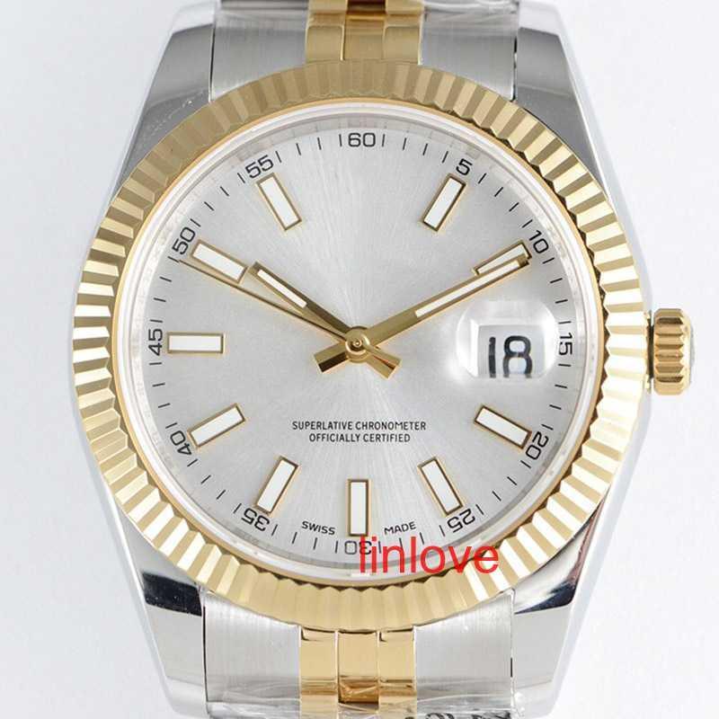 럭셔리 남성 시계 스테인레스 스틸 솔리드 걸쇠 자동 2813 기계식 시계 남성 큰 날짜 대통령 손목 시계 몬트 테