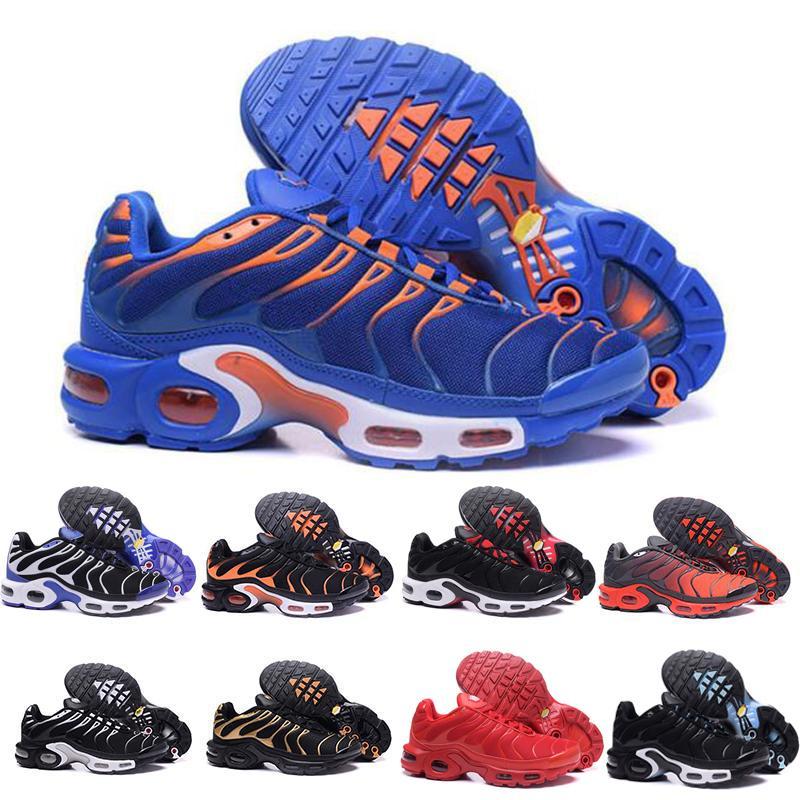 Плюс TN тройные мужские женские ультра кроссовки черный белый синий красный бегуны мужские тренеры высокое качество дышащие кроссовки размер 40-45