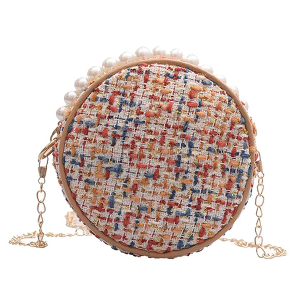 Pearls Bolso Bolso Bolso Bolso Bolso Womens Woven Shoulder Fashion Bohemian Wool OHSCL