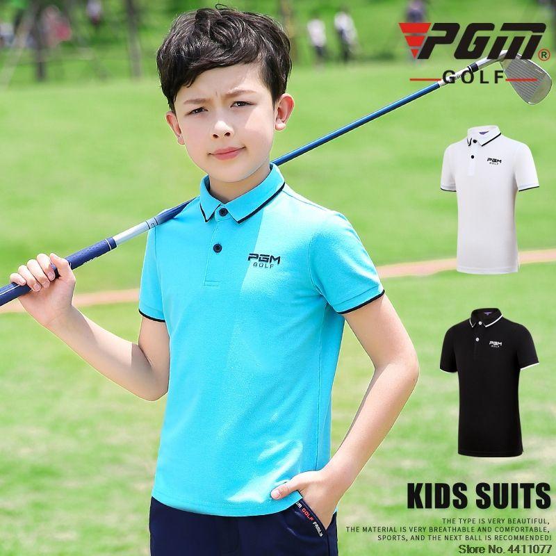 PGM enfants Respirant Golf T-shirts Garçons Adolescent manches courtes T-shirt de formation Garçons D0782 sport confortable