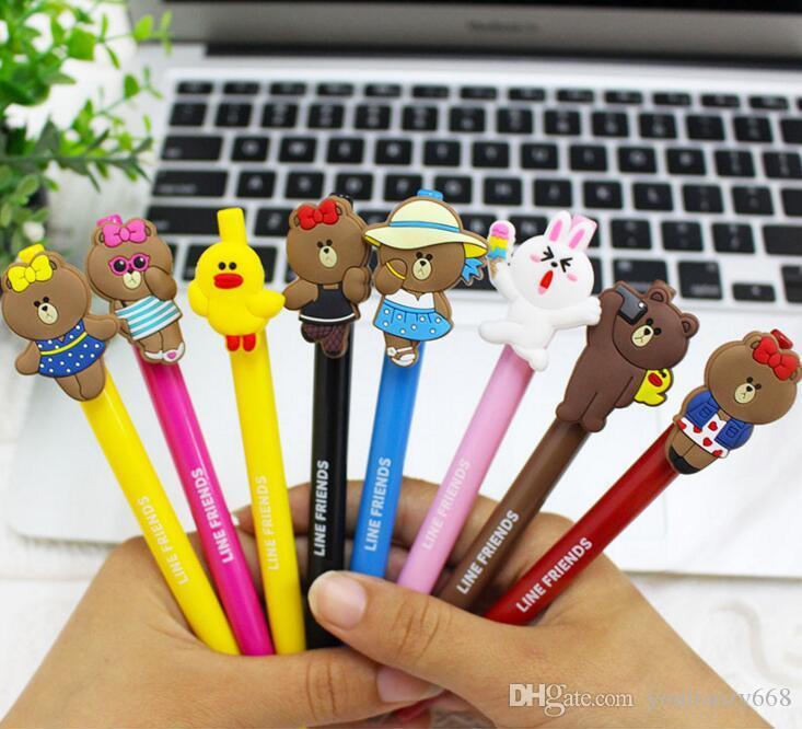 (50 шт.)Оптовая весенняя нейтральная ручка творческие подарки мультфильм шариковая ручка студенты черная подпись ручка канцелярские принадлежности