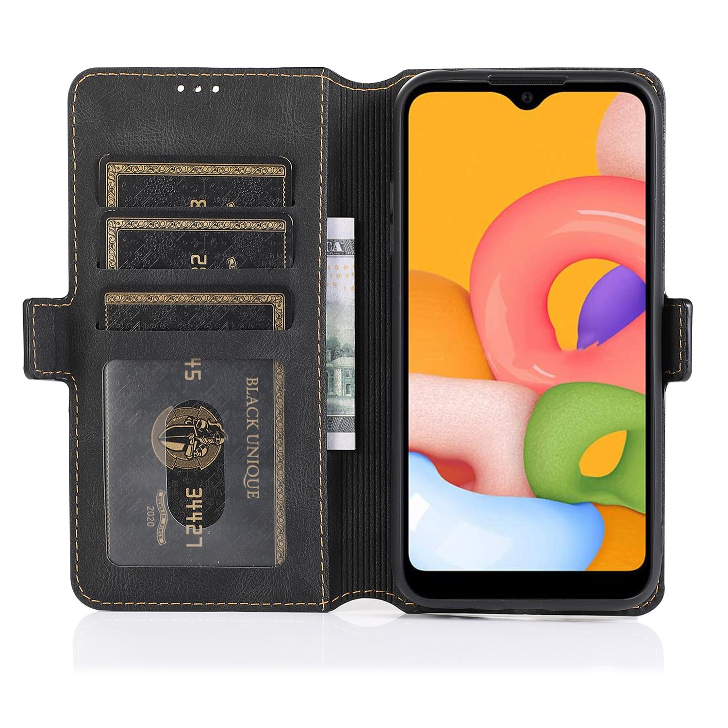 Hot sale luxury Case for samsungA01 Phone Case Leather Flip Wallet Back Covers Magnetic Case For samsung Coque Hoesje Capa