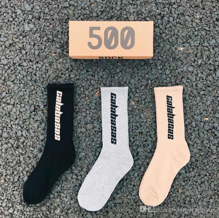 Kaykay Moda Erkek Harf Baskılı Spor Çorap sockings Hip Hop Moda Çorap Erkekler Kadınlar
