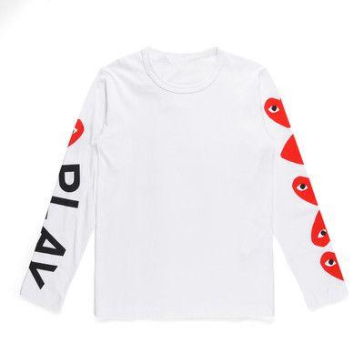 Moda Bianco Marca rotonda Collare genitore-bambino a maniche lunghe T-shirt Love Letter stampa lunghe amanti manica Abbigliamento padre-figlio