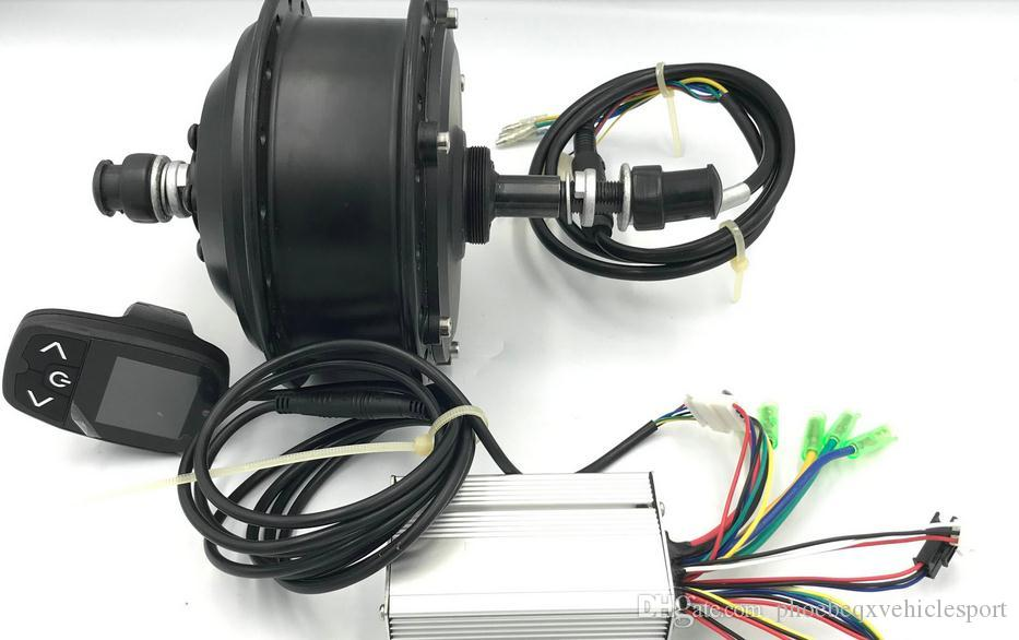 2019 Nouvelle affichage TFT modifiable + contrôleur 24v36v48v350W + HUB Moteur de parasite 36hole Vélo électrique Accessoire Scooter VTT Kit de conversion MTB