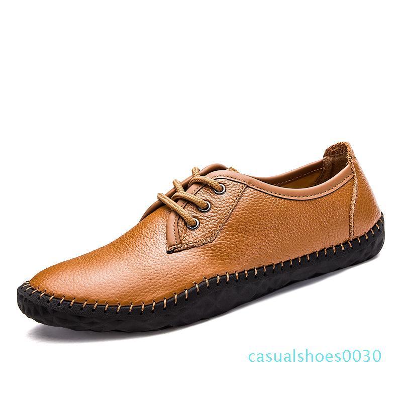 Горячая распродажа-британский бизнес Повседневная обувь мужчины оксфорды обувь ручной работы 100% натуральная кожа квартиры мужчины весна осень Sapato Masculino c30