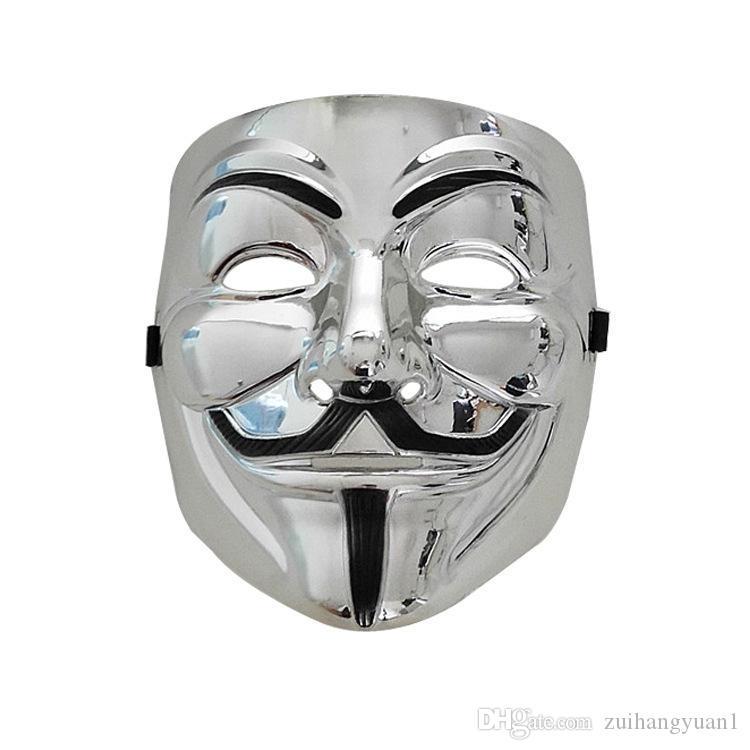 50pcs 2020 V para Máscaras Máscaras Vendetta parte vendedora Hot Party V for Vendetta Máscara Anonymous Guy Fawkes Máscara Adulto