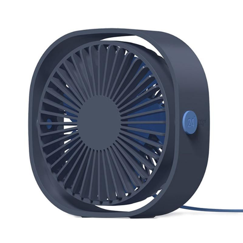 Mini-USB-Ventilator Silent-Kreative Home Office Desktop-kühler Ventilator mit 5-Vane Blades Blower Fan Dritter Gang (blau) T200518