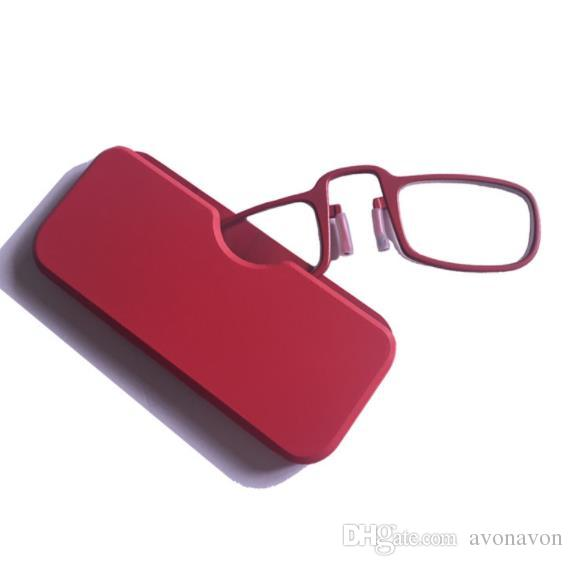 HEALTH Portable nose Wallet Reading Glasses with Case 4 colors mini presbyopic glasses Emergency Glass CZ205