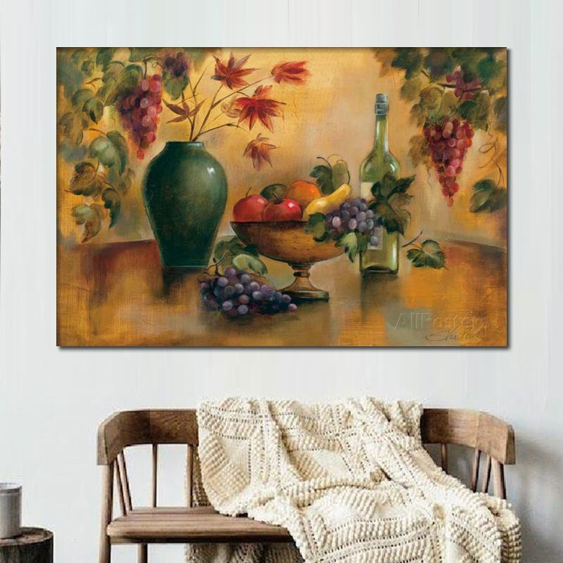 Still life Oil Painting Autumn Hues Silvia Vassileva modern abstract art High quality Hand painted fruits and bottles picture for room decor
