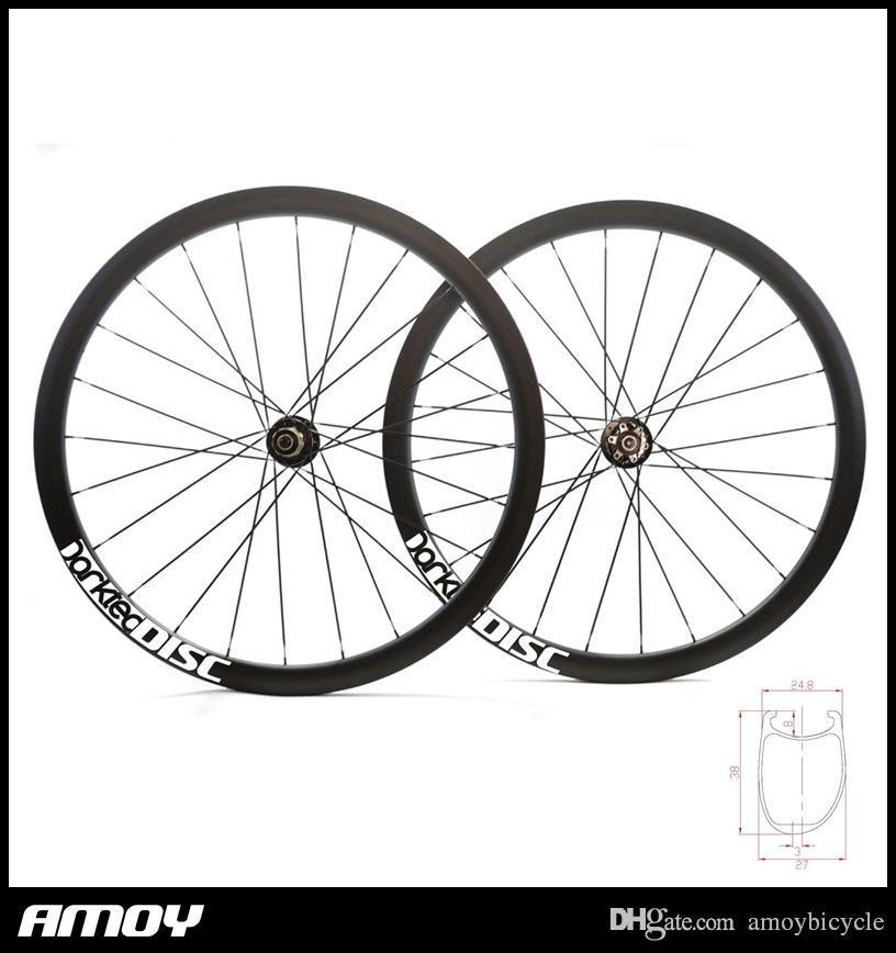 carbon 700C Toray T700 full carbon clincher offset, Road bike Disc brake carbon rims brake asymmetric bike wheel