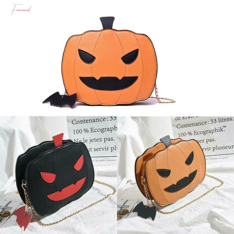 Fille de citrouille de Halloween en forme de sac à bandoulière Messenger Casual Sac à main