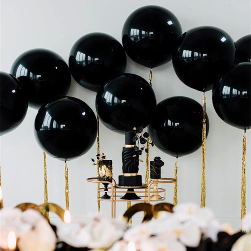 36inch Gaint Balloon 90cm Rose Gold White Black Round Latex Balloons Wedding Bridal Shower Birthday Party Balloon Decoration Engagement Party Decorations Engagement Party Supplies From Qiansuning88 25 81 Dhgate Com
