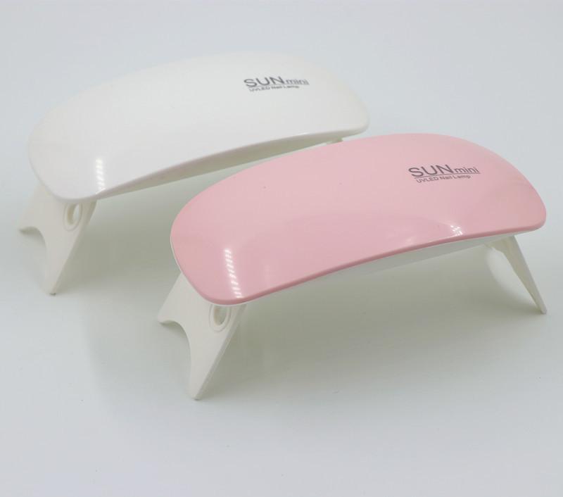 الجملة 6W المصغرة المحمولة مسمار آلات مجفف الأشعة فوق البنفسجية عالية الجودة سريع للأشعة فوق البنفسجية مسمار مجفف USB علاج الأشعة فوق البنفسجية مسمار