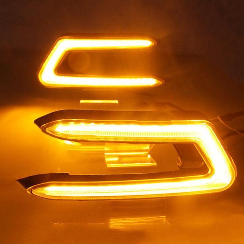 2Pcs LED Rear Bumper Light Turning Signal Fog Lamp Fit For Toyota Camry 2018-19
