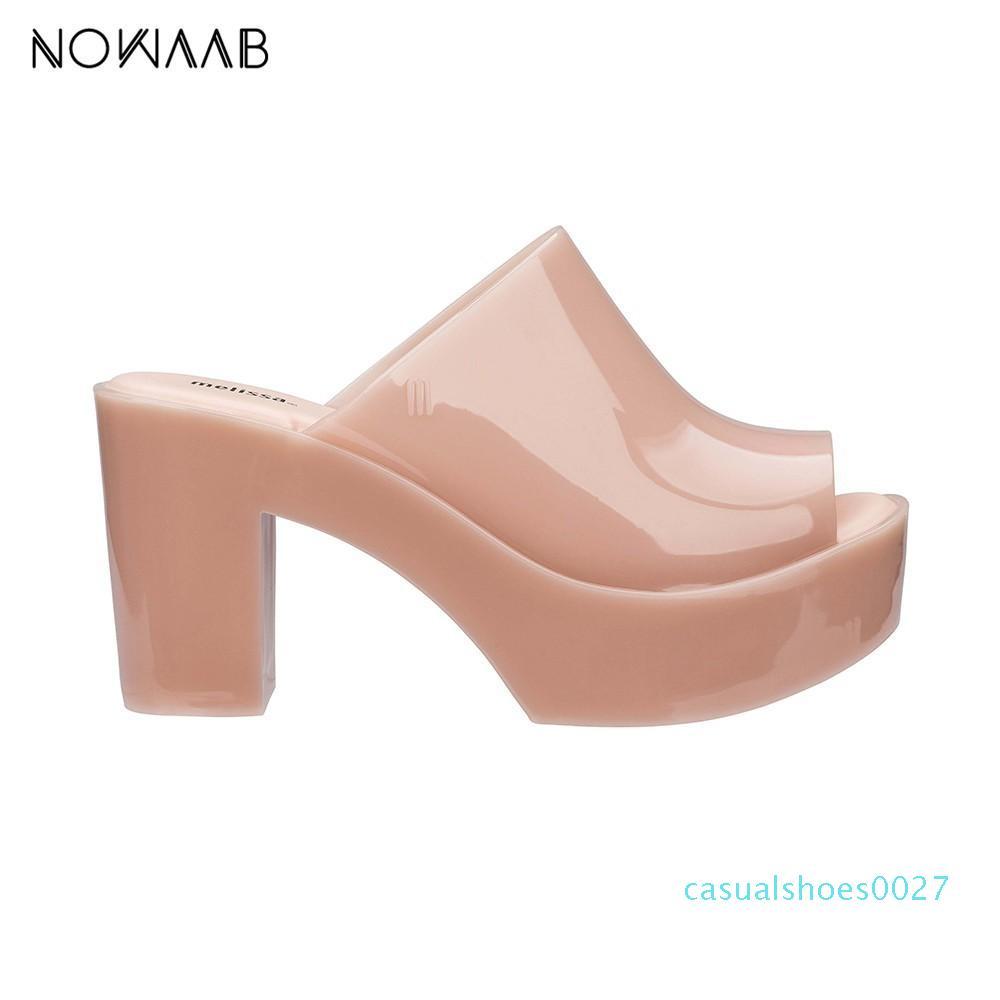 Kadınlar Katı Sandalet Bayan Jelly Ayakkabı Mulher C27 için Melissa Katır 2019 Yeni Kadın Düz Sandalet Marka Jelly Melissa Yüksek topuk ayakkabı
