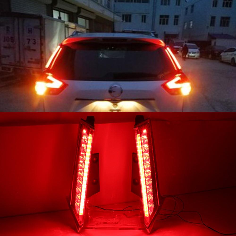 1Pair für Nissan X-Trail Xtrail X Trail Rogue 2014-2020 LED DRL Heckstoßstange Heckleuchte Nebelleuchte Bremsleuchten Signalleuchte