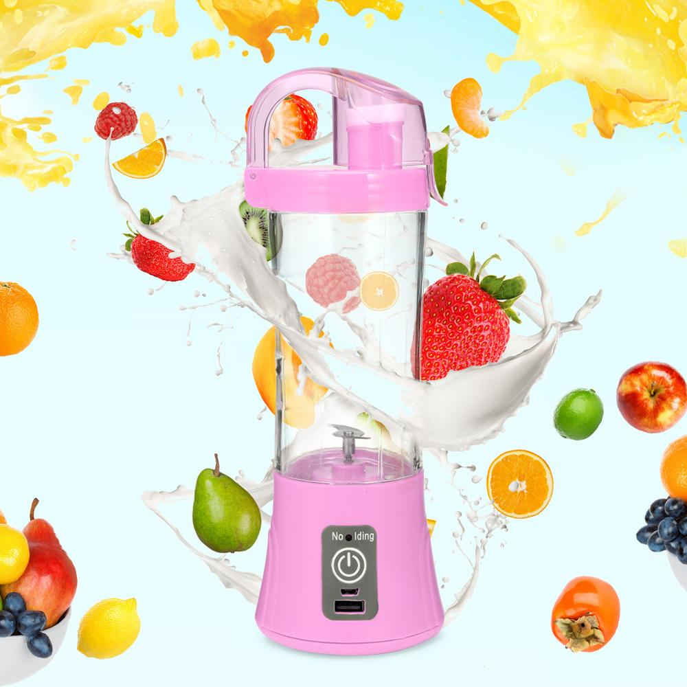 380ml Portable Blender Juicer Cup Usb Rechargeable Electric Automatic Vegetable Fruit Citrus Orange Juice Maker Cup Mixer Bottle SH190628