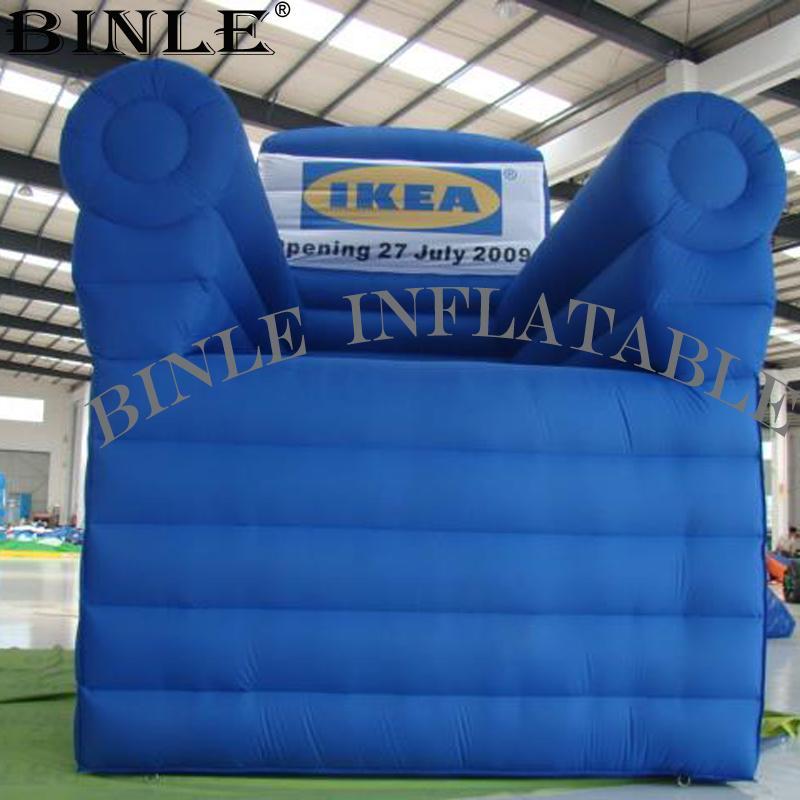 pantalla gigante al aire libre modelo de sofá de la silla inflable con el logotipo para la publicidad