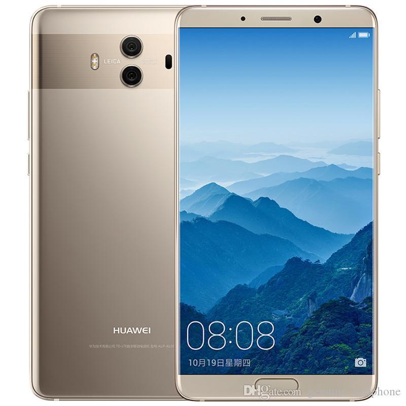 Original Huawei Mate-10 4G LTE-Handy 6 GB RAM 128 GB ROM Kirin 970 Octa-Core Android 5.9 Zoll Schirm 20MP NFC Fingerabdruck-ID-Handy
