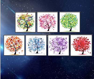 5D DIY Diamant-Malerei Baum Special Shape Sticker Diamant gestickte Kreuz-Stich-Kristalldiamanten