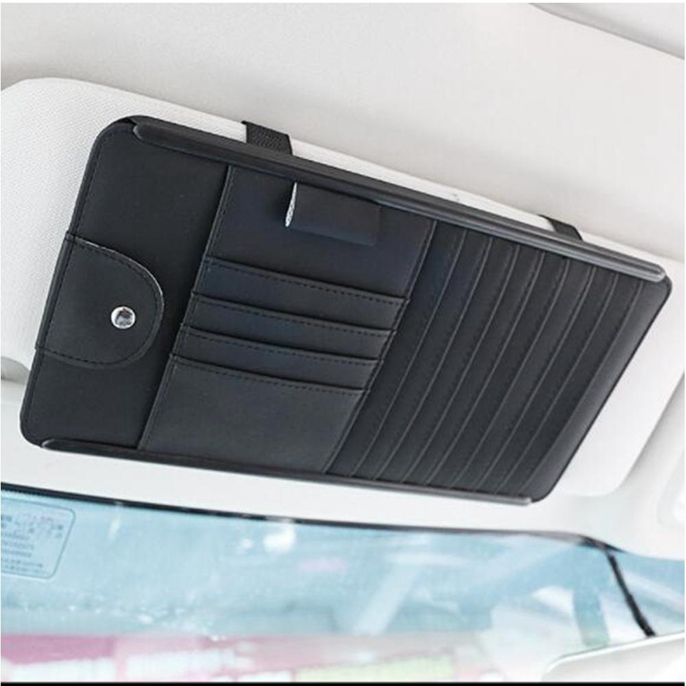 Car Styling Car Sun Visor CD DVD Card Mesh Organizer Glass Pen Stowing Case Auto Multifunctional Storage Holder Clip Bag