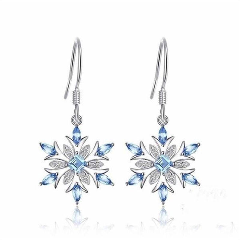 S925 Sterling Silver orecchino di zaffiro per orecchini di goccia Women Biżuteria Kolczyki topazio blu Orecchini Silver Jewelry 925