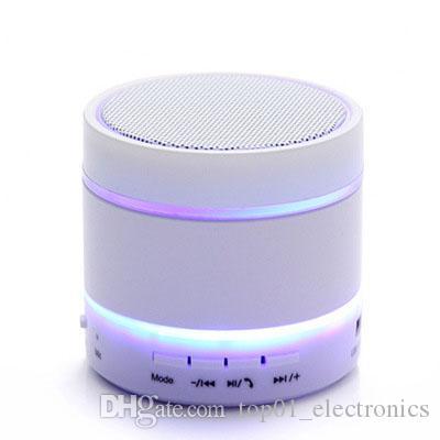 Newest Prodduct LED Speaker S09 Enhanced Speaker 3 LED Light Ring Super Bass Metal Mini Portable Beat Hi-Fi Bluetooth speaker