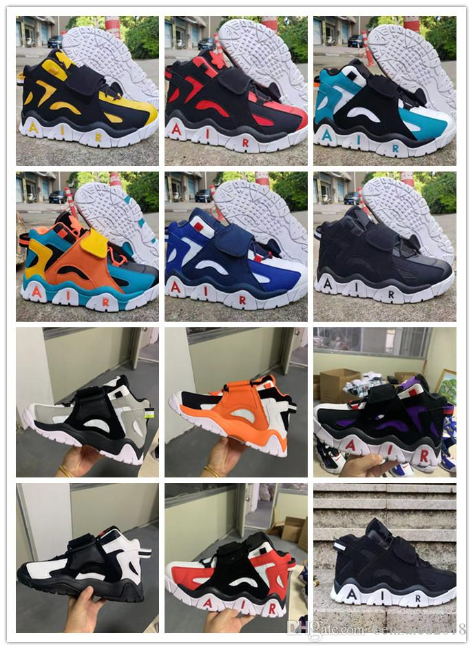 2019 New Arrival Barrage Mid QS Black White Purple 농구 Shoes Men Women (High) 저 (Quality Yellow Deep Blue Black Sports Sneakers EUR 36-44