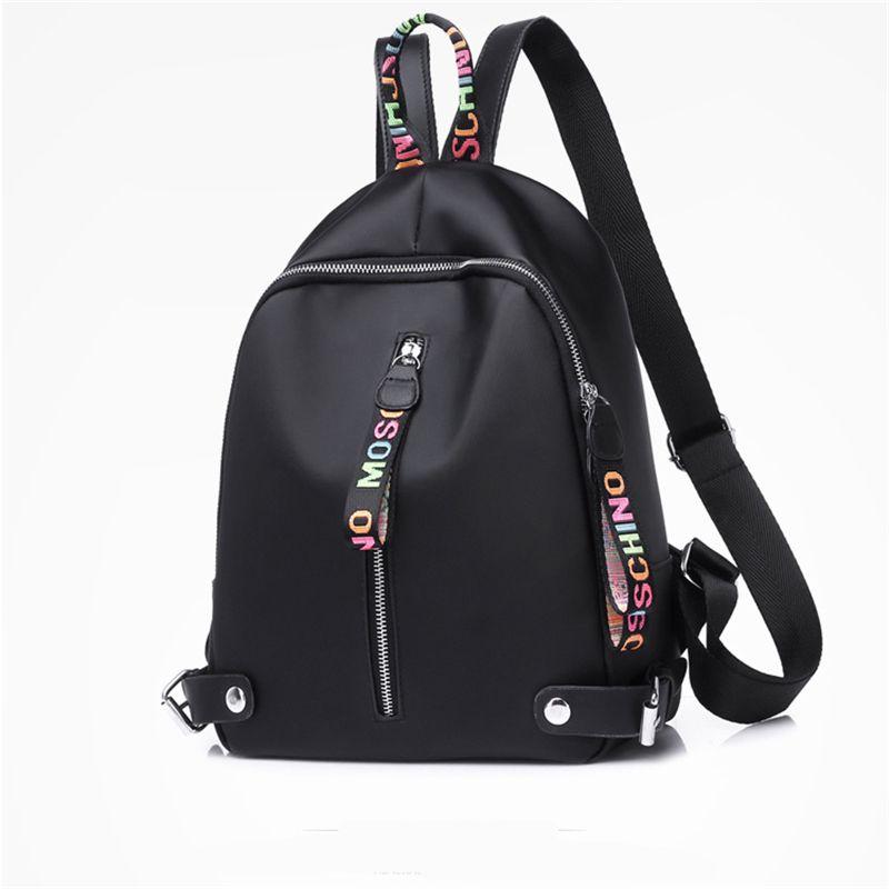Kleiner Designer-Rucksack für Frauen Mädchen der großen Kapazität Leinwand Rucksäcke mit schwarzem Weiß Rosa 3 Farben hochwertigen Rucksack Drop Shipping
