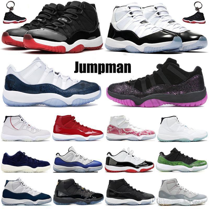 Nuove donne degli uomini 11 scarpe da basket della 11s Jumpman Space Jam Cap Sneakers allevato concordia 45 Gamma Blu Basso Scarpe da ginnastica 36-47