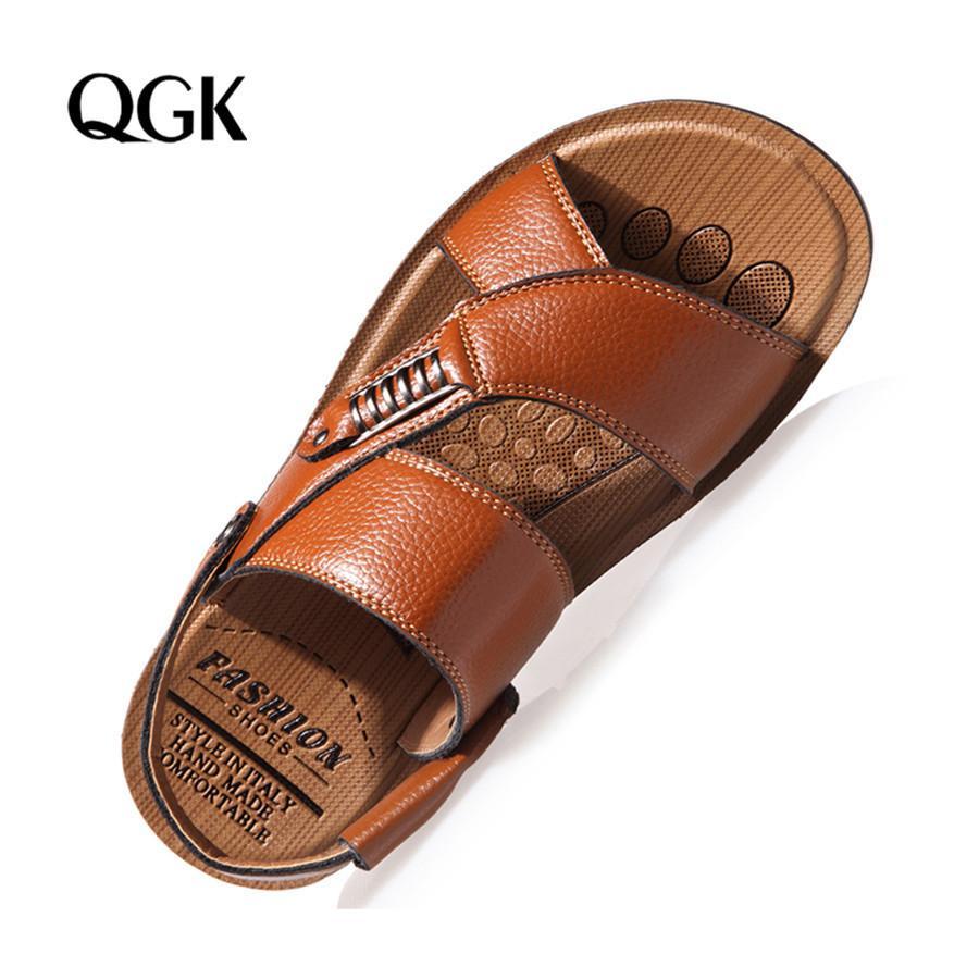 Men Sandals Summer Genuine Leather Roman Sandals Men Casual Shoes Beach Flip Flops Men Fashion Outdoor Slippers Shoes Sneakers CX200615